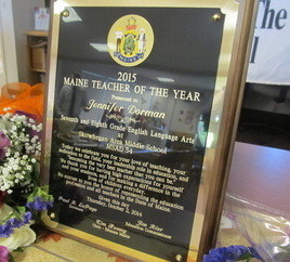 2015 MAINE TEACHER OF THE YEAR ANNOUNCEMENT